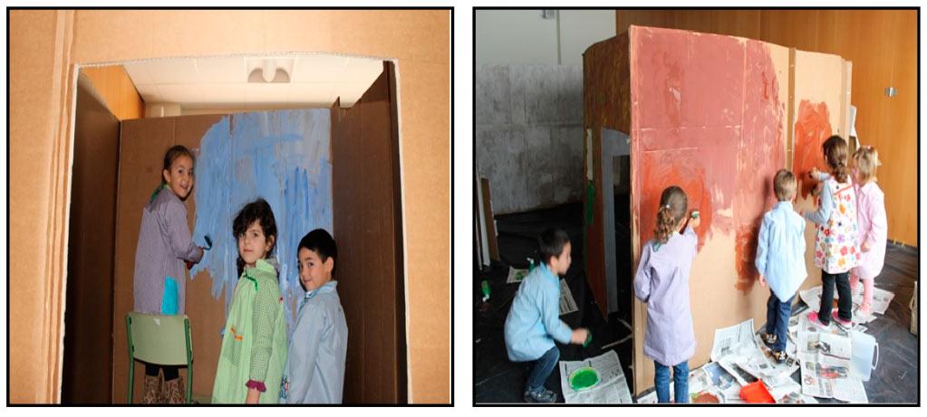 chicos-haciendo-una-cueva-de-carton-en-Arguedas
