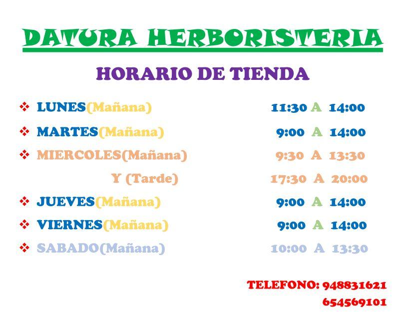 Horarios Datura Arguedas