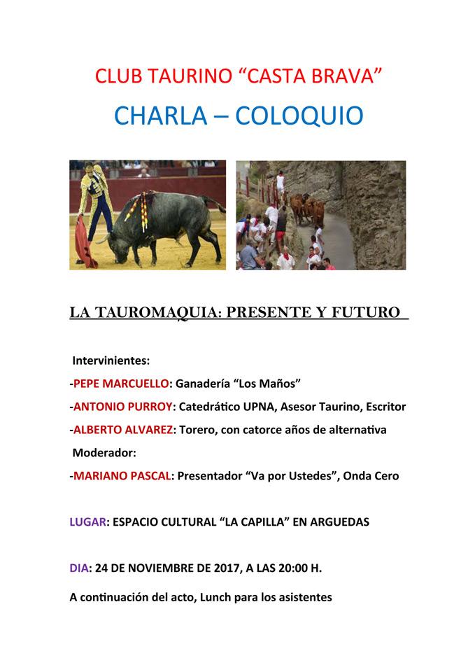 CARTEL-CHARLA-COLOQUIO-LA-TAUROMAQUIA-2