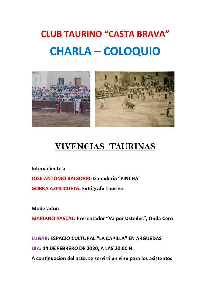 CARTEL-CHARLA-COLOQUIO-VIVENCIAS-TAURINAS