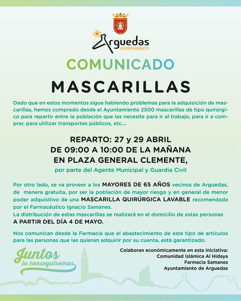 Arguedas Comunicado Fumigacion Calles Arguedas Viernes 24.04.20