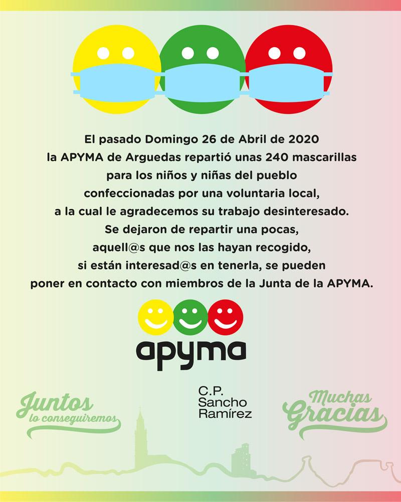 Arguedas mascarillas Apyma 2020