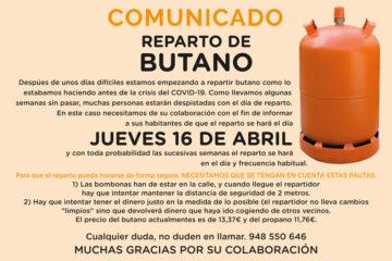 Arguedas Reparto de Butano 16 Abril 2020