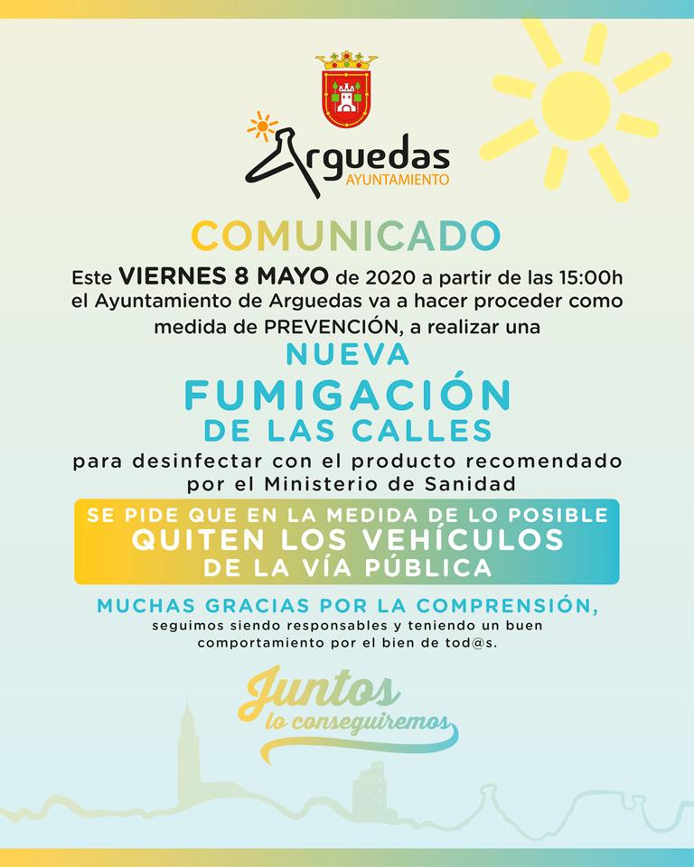Comunicado Fumigacion Arguedas 08.04.20