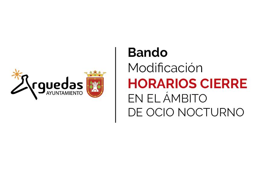 Bando Modificacion Horarios Cierre Bares 2020