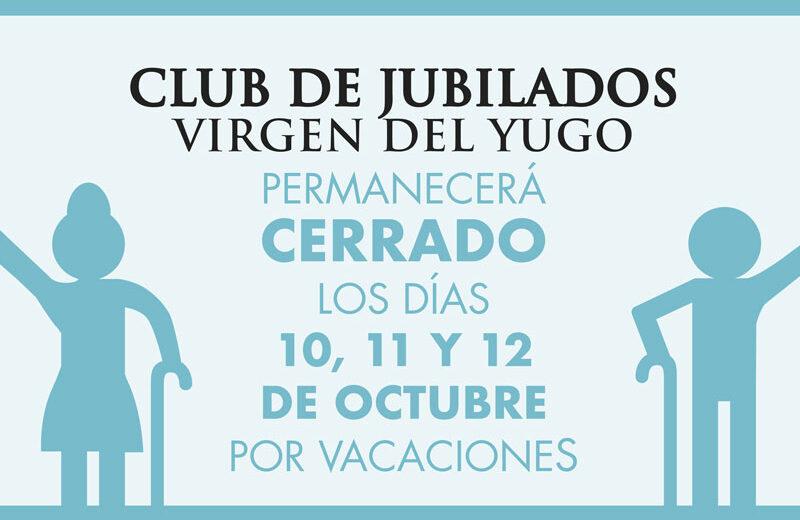 Club Jubilados Arguedas Cerrado Vacaciones  DESTACADA
